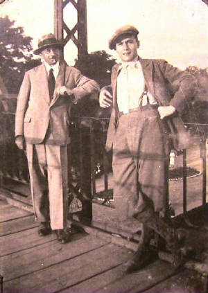 Victor with Andre Frodel circa 1933.  Click for more photos